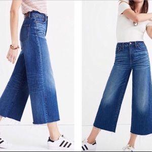 Madewell Hi-Rise Wide Leg Crop Jean Size 30 EUC